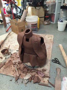 sculpture in clay