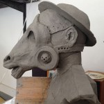 Ceramic Chess Work : Knight